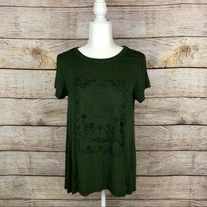 ⭐️ AEO Soft & Sexy Slub Green Far Far Away T-Shirt